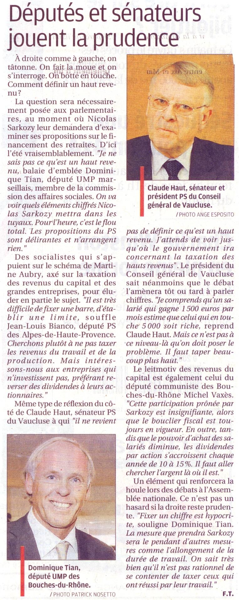 La Provence 25 mai 2010