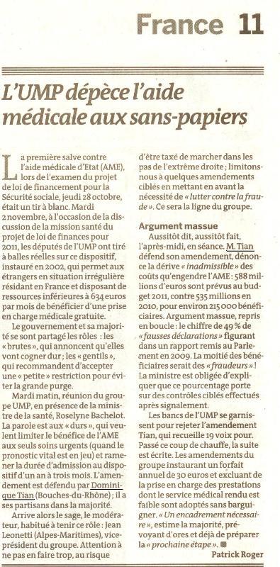 Le Monde du 4 nov