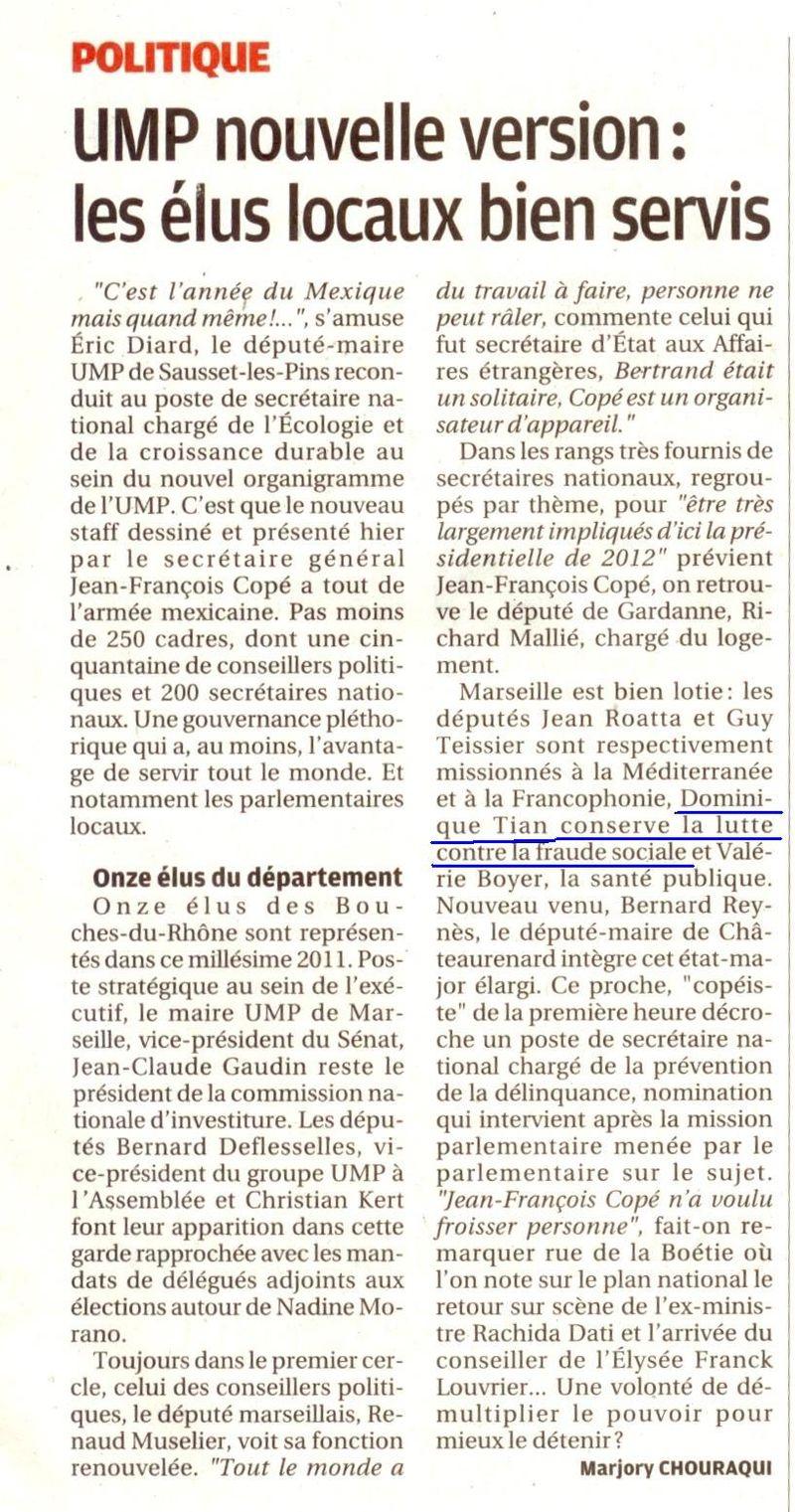 La provence 17 février-UMP